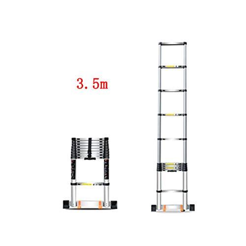 ZPWSNH Klapladder Home telescoop klip en val Engineering draagbare rechte ladder aluminium verdikking opstapkruk