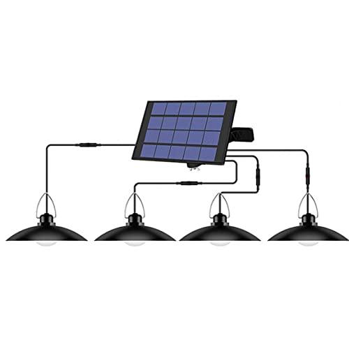 Hainice Shed Solare Luce del Pendente LED Solare Lampada a Sospensione Lampadario Impermeabile con 4 per Esterno Giardino Patio Corridoio