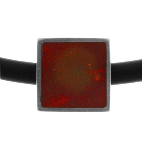 InCollections K230200095580 - Collar Unisex de Plata de Ley con ámbar