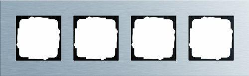 Gira 021417 Abdeckrahmen 4-Fach Esprit Aluminium