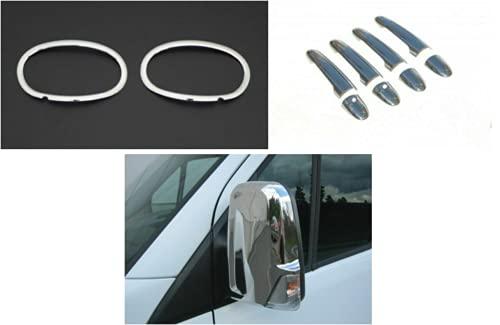 Cubiertas para manijas de puerta y luces antiniebla para llantas y espejos compatibles con Mercedes Sprinter W906 2014-2017
