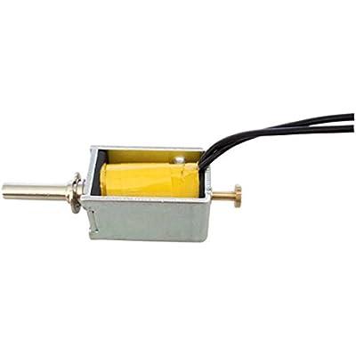 UEETEK 6V DC Open Frame Actuator Linear Mini Push Pull Solenoid Electromagnet