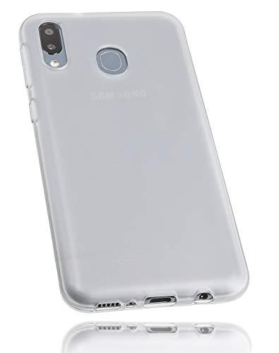 mumbi Hülle kompatibel mit Samsung Galaxy A50 Handy Case Handyhülle, transparent Weiss