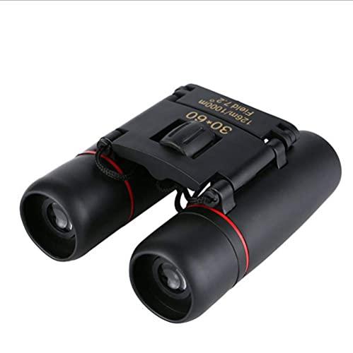 LNHJZ Binoculares de Zoom Compacto 30X60 de Largo Alcance Plegable HD Mini telescopio Potente BAK4 FMC Óptica para Acampar Deportivo