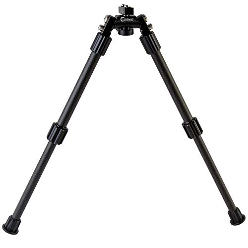Caldwell Accumax Carbon Fiber M-Lok KeyMod Bipod with Twist Lock Quick-Deployment Legs for Mounting on Long Gun Rifle for Tactical Shooting Range and Sport