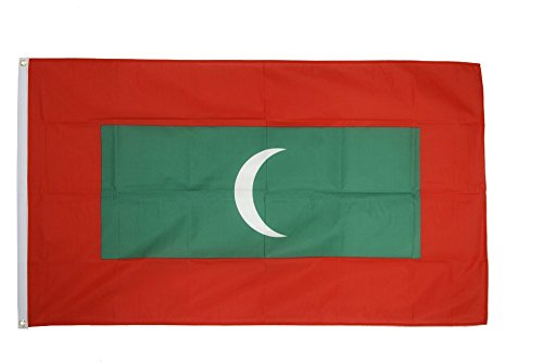 Flaggenfritze Fahne/Flagge Malediven + gratis Sticker