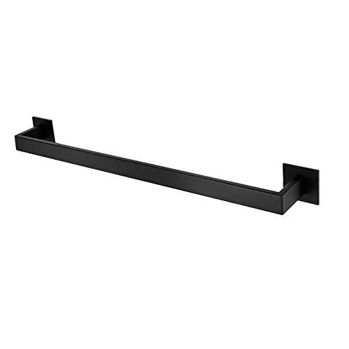 litulituhallo Toallero autoadhesivo para baño, soporte de pared, acero mate 304, color negro
