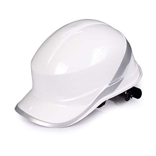Casco de Seguridad Casco de Seguridad de construcción - Casco de ABS de Alta Resistencia Sitio de construcción Liderazgo Control de inundaciones Casco de Seguridad de construcción (Color : Blanco)