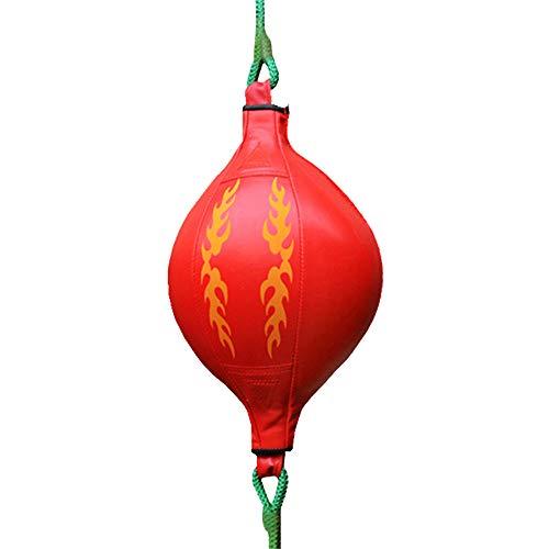 DIYARTS Speed Boxing Box PU in Pelle di Alta qualit?Muay Thai Training Punzonatura Sacco A Sacco Kit Appeso Allenamento Girevole per Fitness O Combattimento Allenamento Sportivo (Red)
