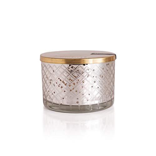 Capri Blue - 15 Oz Mercury Candle Bowl with Wooden Lid - Pomegranate Citrus