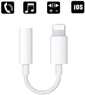 3.5 mm Headphone Jack Adapter, ZENVAN Best Connector for iPhone X/iPhone 8/8 Plus/iPhone 7/7 Plus/iPad, Support Music Control & Calling Function (iOS 10.3 or Later) - White