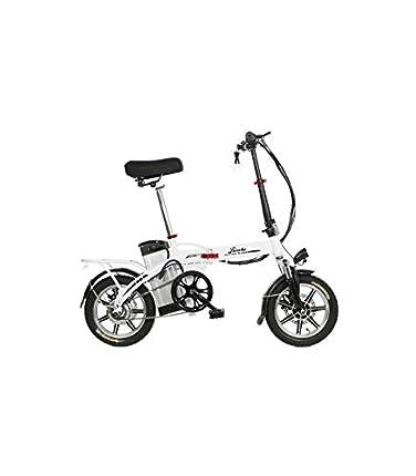 Riscko Wonduu Bicicleta Eléctrica Plegable | Batería 10,4 A.H | Modelo Volt BEP-48 | Blanco