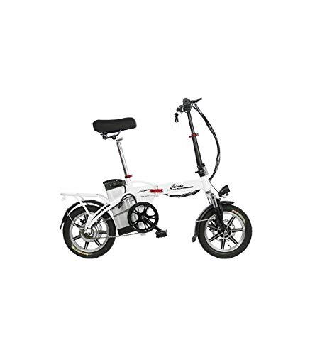 Riscko Bicicleta Eléctrica Plegable Volt Batería 10,4 Bep-48 Blanco