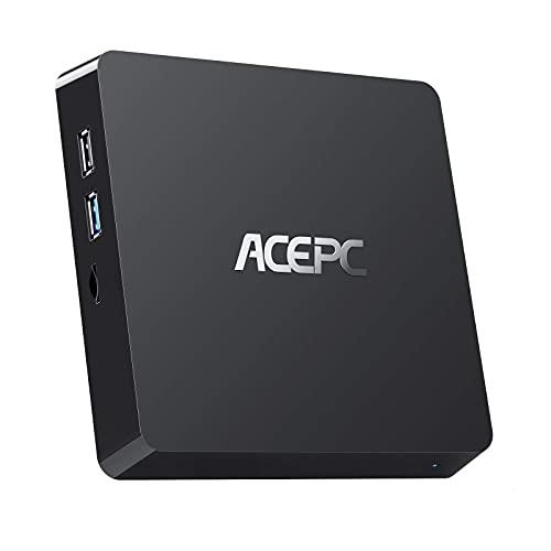 ACEPC Mini PC 4GB RAM, 64GB ROM, Windows 10 Pro, Intel Atom Z8350 Prozessor Mikro Computer, HDMI VGA-Ausgang, 2.5 inches SSD
