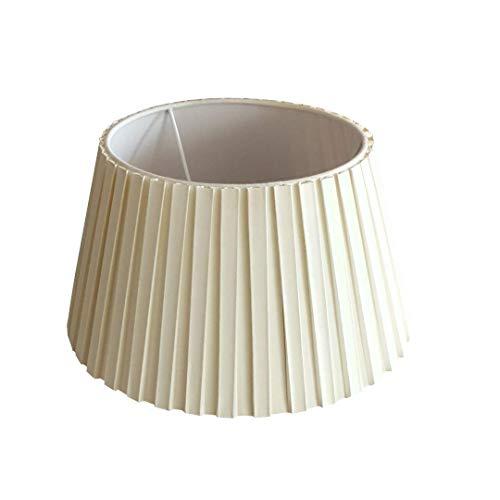 Lampenschirm Creme Plisse Design Rund E27 für Tischlampe Stehlampe Ø 30 cm