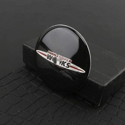 MENGBAO Car Styling Wheel Center Cover Sticker Hub Cap Calcomanía Emblema Insignia para Mini Cooper S JCW R53 R52 R55 Clubman Countryman Piezas de modificación de automóvil Tapas centrales de Rueda,C