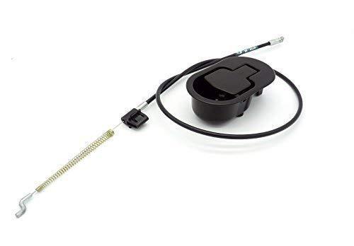Palanca con cable de sillón y sofá reclinable relax metálica negra. Cable *15 cm. de liberación.
