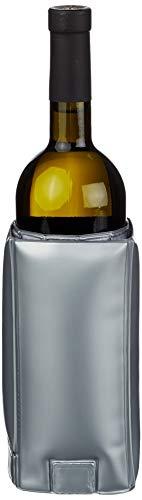 BarCraft Kitchen Craft Raffredda Bottiglie a Fascia Regolabile per Vino, Colore: Argento