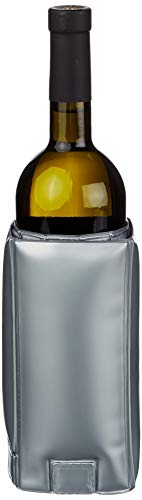 Kitchen Craft Barcraft - Raffredda Bottiglie a Fascia Regolabile per Vino, Colore: Argento