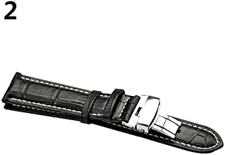 heDIANz Faux Leather Watch Strap Band Fashion Universal Business Foldable Clasp Wristband