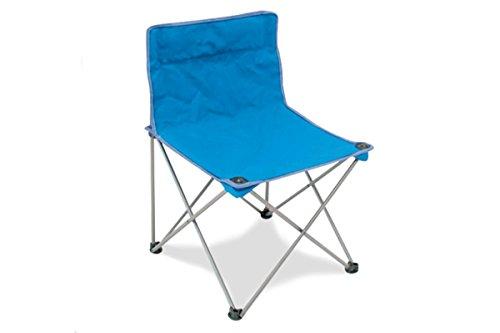 Storm Chaise pliante en fer avec tissu textilène bleu avec sac de transport – Idéal pour le camping