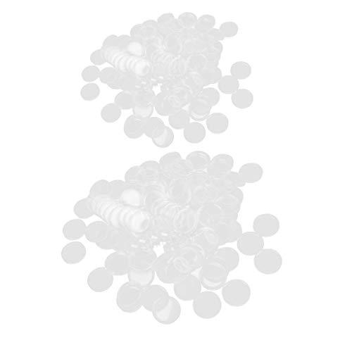 lahomia Caja de Monedas Transparente de 200 Piezas con Soporte para Caja de Dinero en Cápsula