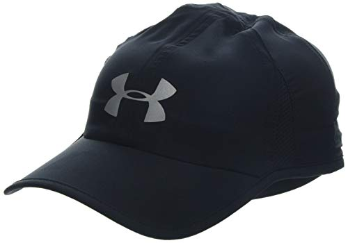 Under Armour Mens Shadow Cap 4.0 Gorra, Hombre, Negro (Black/Black/Reflective 001), Talla única