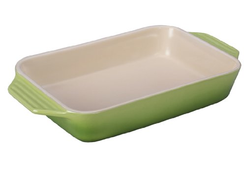 Le Creuset PG1047S-324P Stoneware Rectangular Dish, 12.5 by 8.25-Inch, Palm