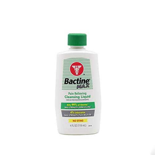 Bactine Max 4 oz Pain Relieving Liquid, (Pack of 2)