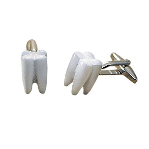 Tooth Dentist Teeth Gift Cufflinks + Box & Cleaner