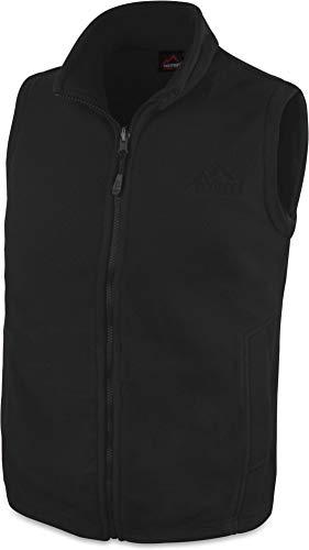 280 g/m² Herren Fleeceweste für den Übergang mit Taschen und Stehkragen - leicht, elegant, funktional Farbe Schwarz Größe XL