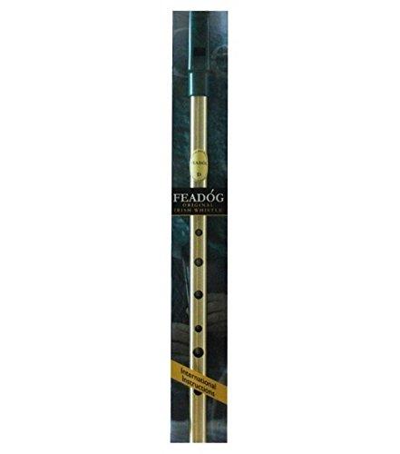 New Authentic Brass Irish Feadog Key 'D' Penny Whistle