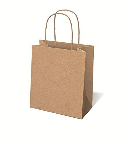 Idena 50054 - Papiertüte aus Kraftpapier, 18 x 8 x 23 cm, FSC-Mix, Einkaufstüte, Einkaufstasche, Geschenktasche, Geschenkverpackung