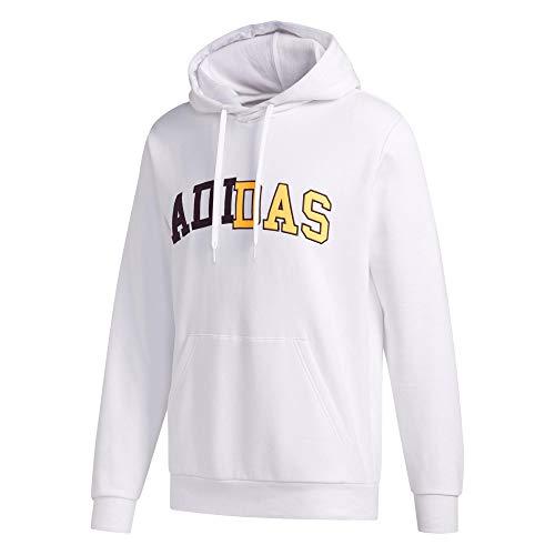 adidas Collegiate HDY Camiseta Manga Larga, Hombre, Blanco, L
