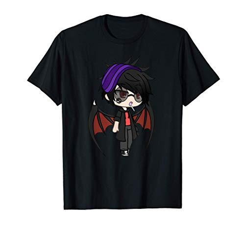 Cute Chibi style Kawaii Anime Vamp Boy with Vampire Wings T-Shirt