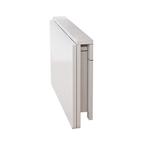 NYDZ Doppel-Klammer-Wand-Klapptische, hölzerne hängende Tabelle Computer-Tabellen-Arbeitsstationen Speisetische Schreibtisch (weiß) (Size : 80 * 50 cm)