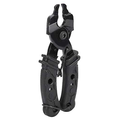 Alicanzado de Cadena de Bicicleta de plástico, 95 * 37 mm de Acero Inoxidable Mini tamaño de Calidad de aleación (Negro)