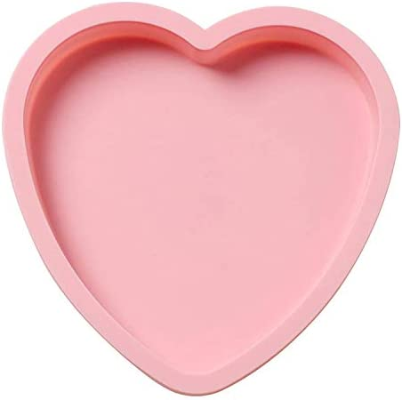 Verdental 8 inches Heart Shaped Silicone Cake Pans Baking Molds Non Sticks Silicone Bread Pans product image