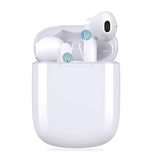 Cuffie Bluetooth, Auricolari Bluetooth 5.0 con Stereo HiFi, Auricolari Wireless con Microfono, Cuffie Senza Fili con Controllo Touch IPX5 Impermeabili per iPhone Samsung Huawei Xiaomi