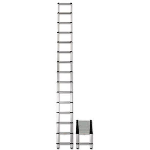Telesteps Telescopic Extension Ladder, 18 Ft, 300Lb, 14-Step, Aluminum