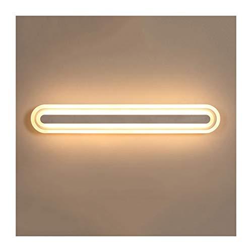 Lámpara Lámpara de pared LED Espejo Faros Baño antiniebla Espejo impermeable Gabinete Luz Maquillaje Lámpara Lámpara de noche Luces de baño (Color : Warm light)
