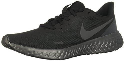 NIKE Revolution 5, Sneaker Uomo, Black Anthracite, 42.5 EU