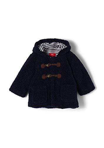 s.Oliver Unisex - Baby Teddy-Plüsch-Mantel mit Jerseyfutter dark blue 92
