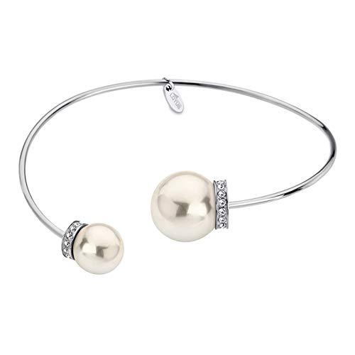 Pulsera acero y perla Lotus Style LS1824-2/1