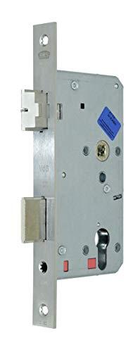 BKS Automatik Türschloss Selbstverriegelnd B 2124 für Profilzylinder 60/72/8, Edelstahl Stulp: 24 x 235mm eckig, DIN Links incl. SN-TEC® Montageset