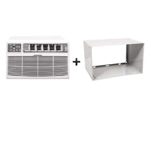 Koldfront WTC14012WCO230VSLV White 14000 BTU 230 Volt Through-the-Wall Air Conditioner and Wall Sleeve with Sleep Mode and Remote Control