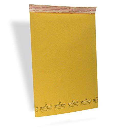 Polyair Eco-lite #4 ELSS4 Golden Kraft Bubble Mailer, 9.5' x 14.5' (Pack of 100)