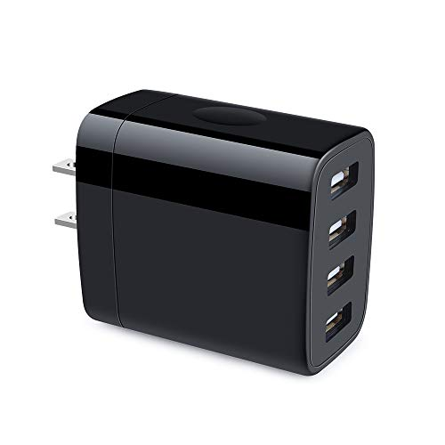 Multiple USB Wall Charger, Hootek 4-Multi Port USB Travel Charger 4.8A Charging Station Charging Block Compatible iPhone 11 Pro Max XS XR X 8 7 Plus, iPad, Galaxy S10 S9 S8 S7 Note 10+ 9 8, LG, Nexus