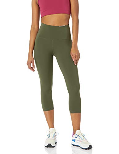 Amazon Essentials High Rise Capri Aktive Skulpt leggings-pants, olivgrün, US M (EU M - L)
