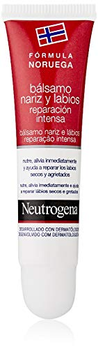 Neutrogena Nose and Lips Balm Intense Repair, Baume Nez et Lèvres Réparation Intense - 15 ml